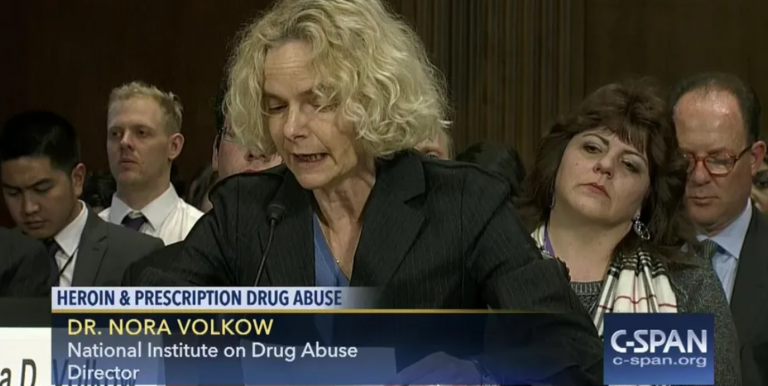 Nora Volkow speaking about opioid abuse