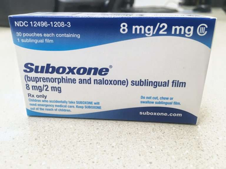 Suboxone in package