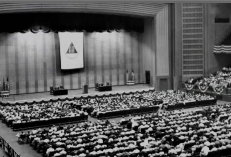 large conference of the religious subculture Alcoholics Anonymous
