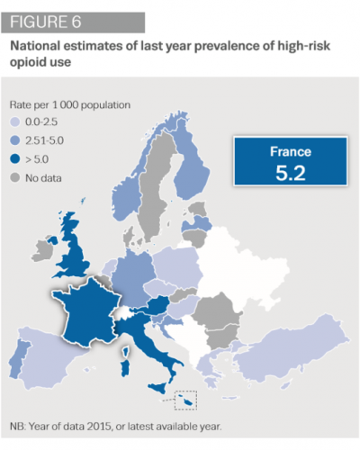 France high-risk opioid use