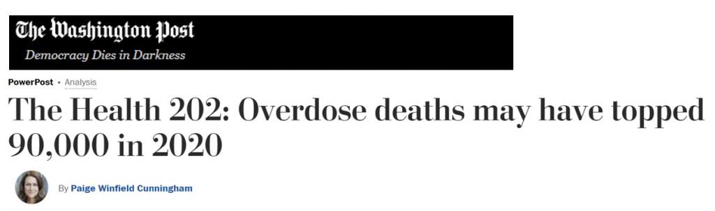 Headline 2020 overdose deaths