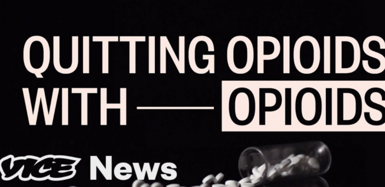 News headline about quitting opioids