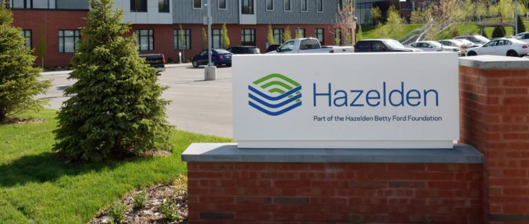 Sign outside a Hazelden treatment center