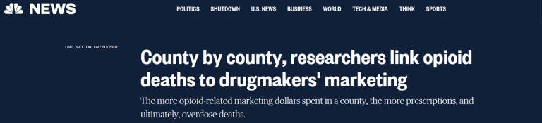 OD deaths linked to doctors bribed MSNBC