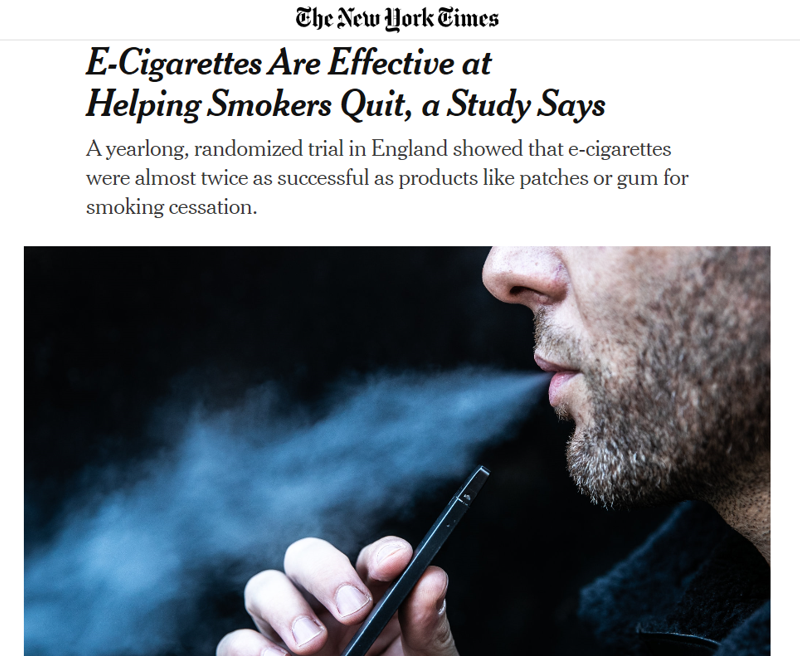 NYTimes Vape article