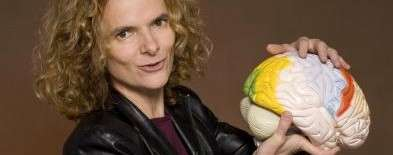 Dr. Nora Volkow holding model of human brain