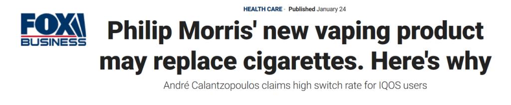 Vape new tech Fox News head comp