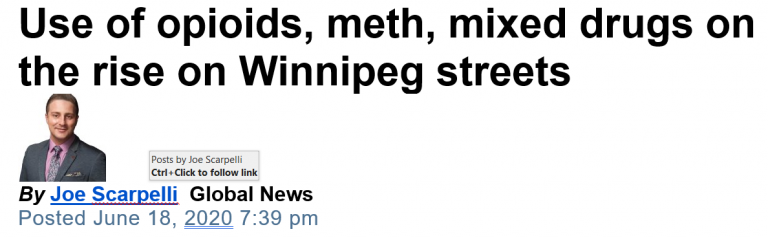 News article headline