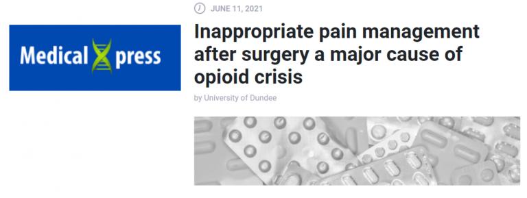 Headline about over prescribing