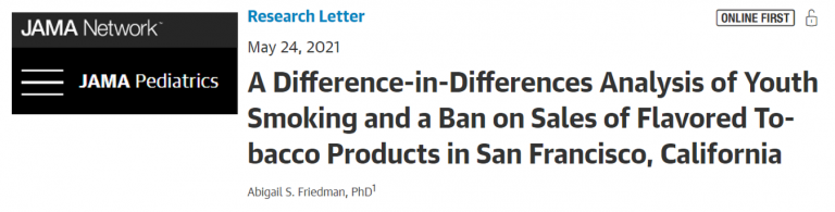 Title of research article on vaping