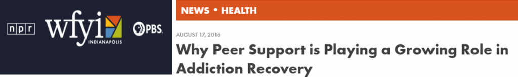 Headline about peer support